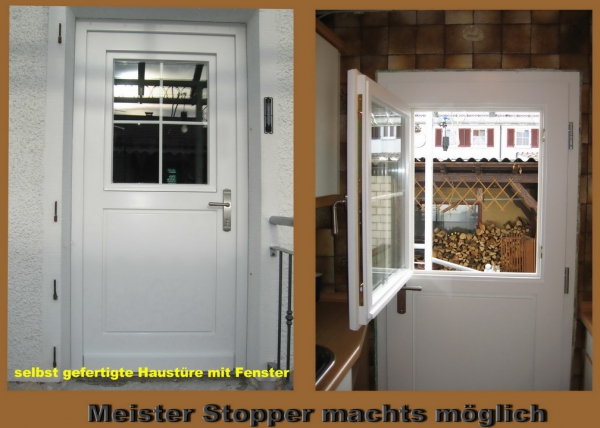 Haustür mit fenster  Schreinermeister Stopper Calw